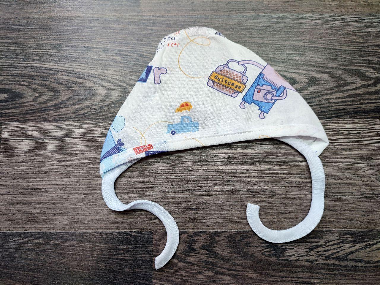 Чепчик для малыша ситец собачки